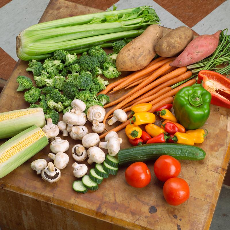 غذاهای کم کالری ، سبزیجات ، میوه جات