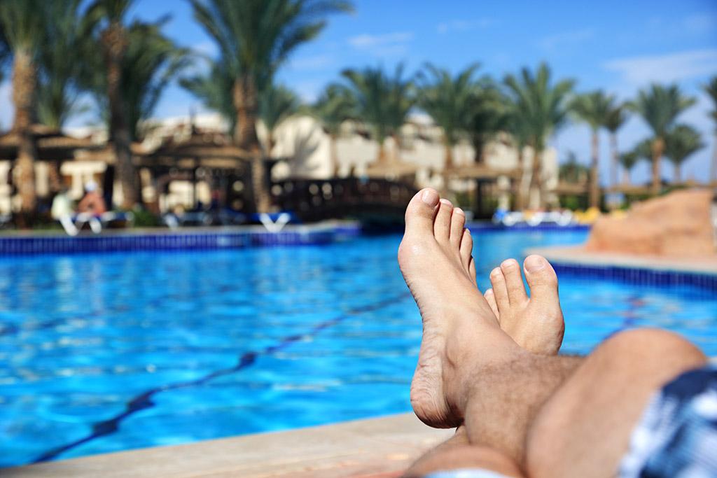 Relaxation under sun