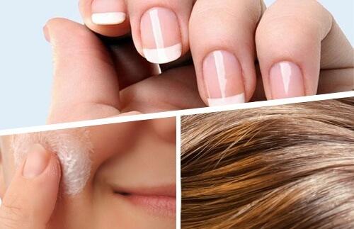 پوست مو ناخن