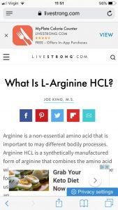 ال آرژنین L Arginine Hydrochloride